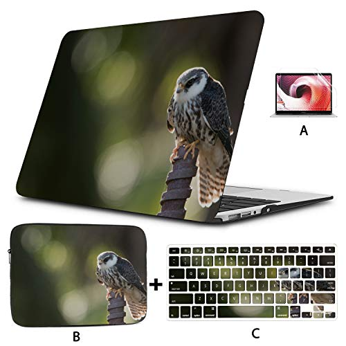 Macbook Pro A1708 Case Birds Amur Falcon Breeds In Sibera Macbook Air Protective Case Hard Shell Mac Air 11'/13' Pro 13'/15'/16' With Notebook Sleeve Bag For Macbook 2008-2020 Vers