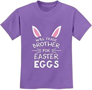 Tstars - Trade Brother for Easter Eggs Funny Siblings Youth Kids T-Shirt