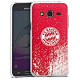 DeinDesign Hard Hülle kompatibel mit Samsung Galaxy J3 Duos 2016 Schutzhülle weiß Smartphone Backcover FC Bayern München Offizielles Lizenzprodukt FCB