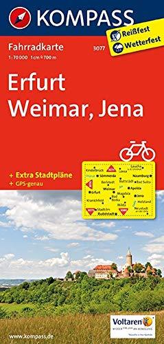 KOMPASS Fahrradkarte Erfurt - Weimar - Jena: Fahrradkarte. GPS-genau. 1:70000 (KOMPASS-Fahrradkarten Deutschland, Band 3077)