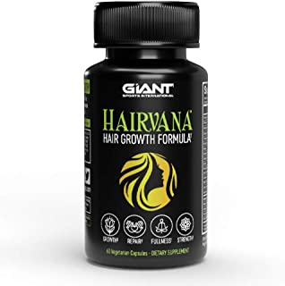 Hairvana Growth Pill to Support Thicker, Fuller, and Healthier Hair | Vitamin C,D,E | 10,000mcg of Biotin - 60 Capsules