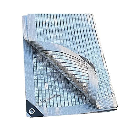 QIANGU Vela De Sombra para Jardín Toldo Parasol Resistente A La Intemperie Protección Solar Lámina De Aluminio 99% Bloque UV con Ojales Y Cuerda (Size : 3×7m)