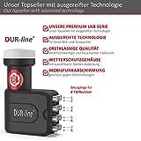 DUR-line +Ultra Octo LNB – 8 Teilnehmer schwarz – mit LTE-Filter, 8-Fach, digital mit Wetterschutz, Full HD, 4K - 3