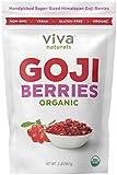 Viva Naturals Organic Dried Goji Berries, 2lb - Premium Himalayan Berries Perfect for Baking, Teas, Trail Mixes and More
