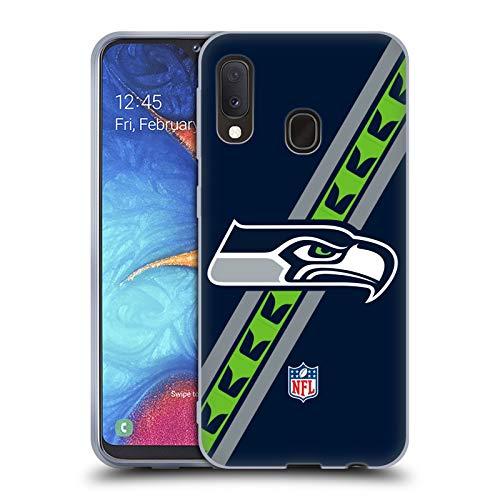 Head Case Designs Licenza Ufficiale NFL Strisce Seattle Seahawks Logo Cover in Morbido Gel Compatibile con Samsung Galaxy A20e (2019)