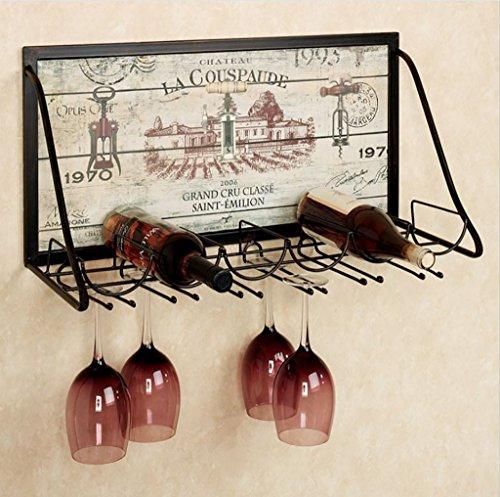 INTASJU Wijnrek IJzeren Muur Wijnrek Creatieve Wijnglas Rack Ophangend Wijnrek