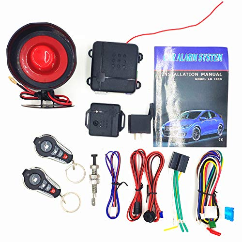 CarBest L232 3-Channel 1-Way Car Alarm Vehicle Security Keyless Entry System