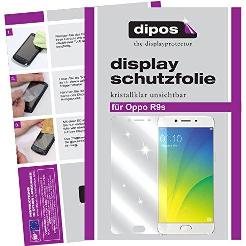 dipos I 2X Schutzfolie klar kompatibel mit Oppo R9s Folie Displayschutzfolie