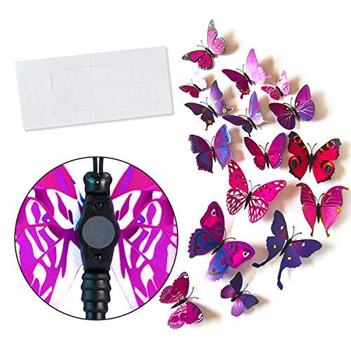 Butterfly Kühlschrankmagnete Magnete 36 Stück Set,schlagfestem Kunststoff Schmetterling Dekorationen,schöne dekorative Magnete für Zuhause für Kühlschrank, Magnettafel,Wand-Dekor