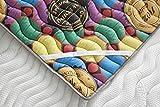 ECODE Topper Viscoelástico Renueva Colchón Tourmalina 4D - Disponible en Todas Las Medidas (135x190)
