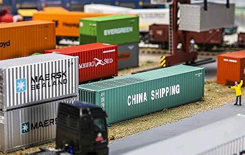 Faller FA 180844–40 conteneurs la Chine Shipping, Accessoires pour la modèle, modèle Construction Ferroviaire