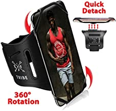 Tribe Running Phone Armband Holder for iPhone, Galaxy, Workout Arm Band, Women, Men. 360° Rotation & Detachable. Fits All 4-7 Inch Screen Phones Plus Case. Adjustable Strap, Pocket & More!