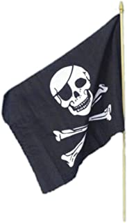 Smiffys Pirate Flag, 45x30cm / 18inx12in Size: One Size