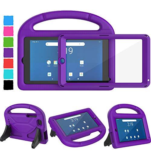 TIRIN Walmart Onn 7 Tablet Case, Surf Onn 7 inch Tablet Case for Kids, Built-in Screen Protector Lightweight Shockproof Handle Stand Kids Case for Onn 7' Tablet 2020/2019 (100015685/100005206) -Purple