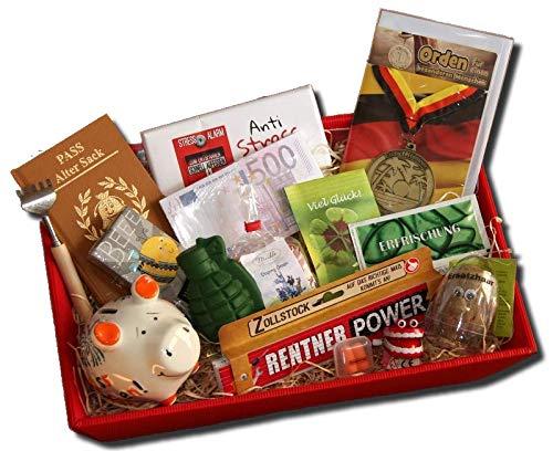 Ruhestand Präsentkorb Mann | Geschenke Rente | Rentner Geschenk | Abschied Ruhestand Kollege | Geschenkideen Pensionierung Altersteilzeit
