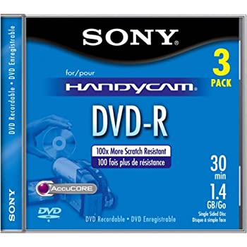 Sony 8cm DVD-R with Hangtab (3 Pack)