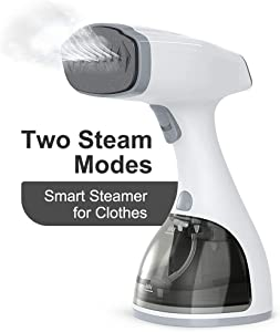 Steamer for Clothes,dodocool 1800W 20s Heat Up Handheld Garment Steamer with LCD Smart Screen,2 Steam Options Fabric Steamer,Upgraded Nozzle and 350ml Water Tank,Portable Travel Clothing Steamer