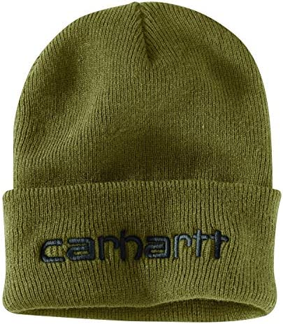 Carhartt Men s Knit Insulated Logo Graphic Cuffed Beanie Military Olive OFA product image