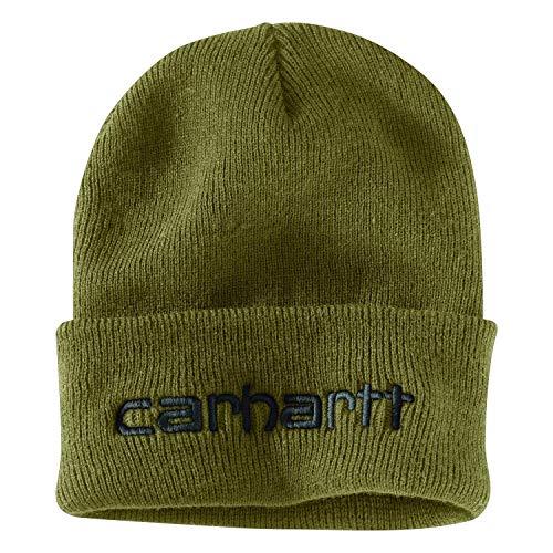 Carhartt Herren Knit Insulated Logo Graphic Cuffed Beanie Hut für kaltes Wetter, Military Olive, Einheitsgröße