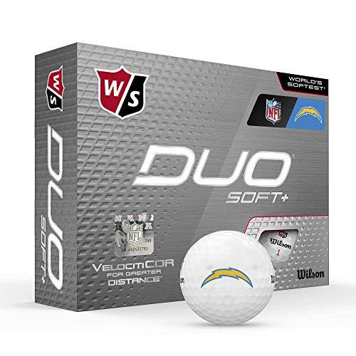 Wilson Duo Soft+ NFL Golf Balls (1 Dozen)-Los Angeles Chargers,White