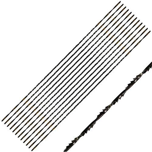Winfred Dekupiersägeblätter, 12 Stück Feinschnitt Sägeblätter mit Spiralverzahnung für Holz Metallplastikschneidensägen für die meisten Major Saw Brands(5#)