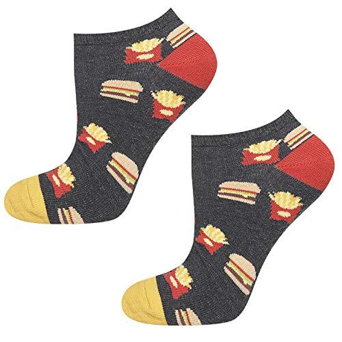 soxo Herren Bunte Fast Food Sneaker Socken | Größe 40-45 | aus Baumwolle | Lustige Geschenk für Frauen & Männer