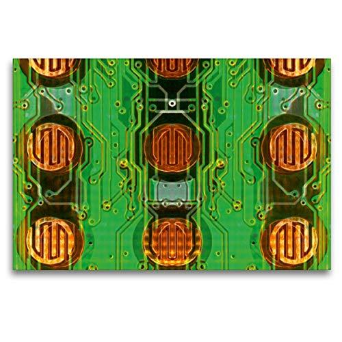 Premium Textil-Leinwand 120 x 80 cm Quer-Format Sechs und drei halbe Punkte, Leinwanddruck von Maurus Spescha