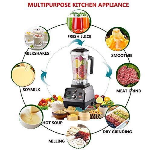 OOFAT Robot De Cocina Compacta, Blender Múltiples Funciones, Chopper, Exprimidor De Carne Picada, Agitación, Batido De Leche, Hielo Triturado, Molienda En...