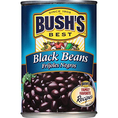 Bush's Best black beans Frijoles Negros - 15 Ounce (12)