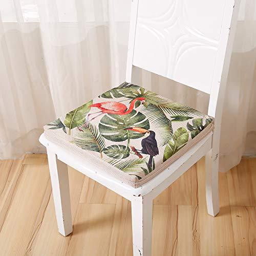 DL&VE Cuadrado Cojín De La Silla,Interior Al Aire Libre Todo El Tiempo Cojín para Silla,Garden Patio Home Chair Cushions,Espesado Esponja Cojín De Couch