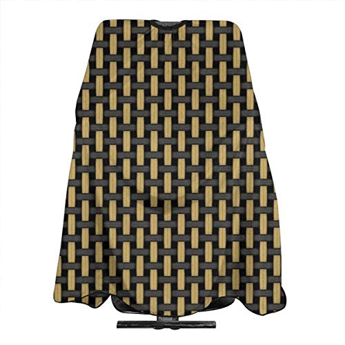 British style Black And Tan Amplifier Grill Cloth Haircut Hairdressing Cape Cloth Apron Hair Styling Hairdresser Cape Barber Salon