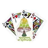 Juego de mesa divertido de la diversión de la tarjeta mágica de la ilustración de la criatura de la seta verde linda