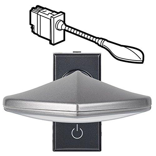 Bticino axolute - Lámpara lectura axolute 230v 1 módulo antracita