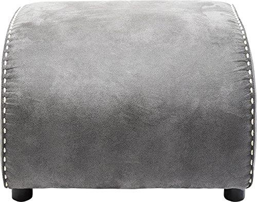 Kare Vintage Grey Hocker Swing Ritmo Grau, passender Sitzhocker zum Schaukelsessel, Polsterhocker Fußablage, (H/B/T) 40 x 52 x 60 cm, mikrofaser