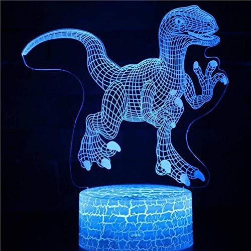 Alte Monstertiere Tyrannosaurus Rex Serie Cartoon Netter Dinosaurier Park 3D LED Nachtlicht Tischlampe Leuchten Kinder Geschenkdekoration