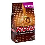 ROLO Chocolate Caramel Candy with Milk Chocolate, Valentines Day Party Bag, 35.6 Oz