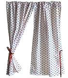 GooseBoose Spielhaus-Vorhänge, Weiß mit roten Sternen