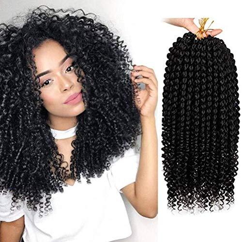 3 confezioni da 35,6 cm senegalese Spring Twist, extension di capelli sintetici con colori sfumati, treccine senegalesi Marley crochet Hair Curl End per donne
