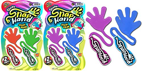 JA-RU Sticky Hands Stretchy Snap Smak Toys (2 Packs) Great Sticky Hand Party Favors Birthday Toy Supplies for Kids, Bulk Toys, Stocking Stuffers, Goody Bags. Prank Gag. 315-2s