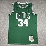 YZQ Jersey De Baloncesto- Boston Celtics # 34 Paul Pierce - Camiseta Sin Mangas De Baloncesto, Jersey De Tela De Confort Vintage,S(165~170cm/50~65kg)