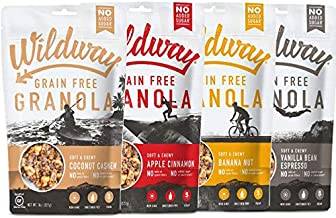 product image for Wildway Vegan Granola | Variety | Certified Gluten Free Granola Breakfast Cereal, Low Carb Snack | Grain-Free, Paleo, Non-GMO, No Artificial Sweetener | 8oz - 4 pack