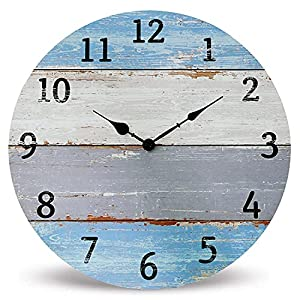 51PMDdAifGL._SS300_ Coastal Wall Clocks & Beach Wall Clocks