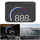 Lakobos Head Up Display Dual System HUD Digital OBD+GPS Speedometer Windshield Projector MPH Speed Alert Voltage Alarm Distance Direction for All Cars Truck Motorcycle ATV Pick-up Scooter Golf Cart