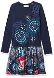 Desigual Vest_Chihuahua Vestido Casual, Blue, 3/4 para Niñas