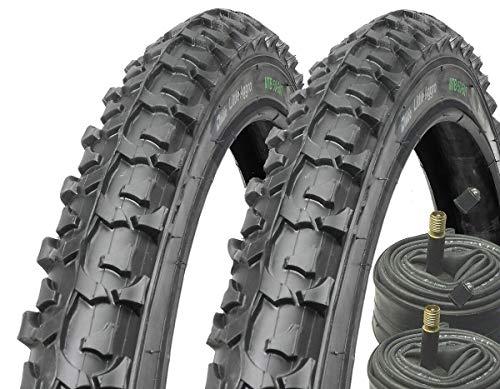Black Dingo Cycling Products 2X BDCP Mountainbike Reifen Fahrradreifen 24 Zoll 24x1.95 inkl. 2X Schlauch AV