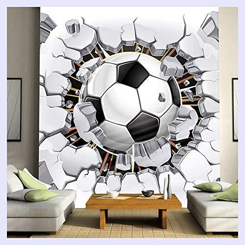 BHXINGMU 3D Fußball Tapete Sport Hintergrund Wandbild Wohnzimmer Sofa Schlafzimmer Fußball Tv Hintergrund Benutzerdefinierte Wandbild Tapete 150Cm(H)×200Cm(W)