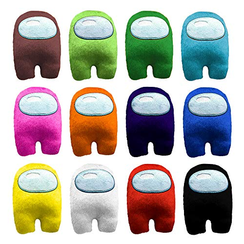 Among Us Plush Toys Plushie Animal Toy 12 Pcs, Among Us Merch Stuff Funny Little Animal Gifts for Super Game Fans Young and Children