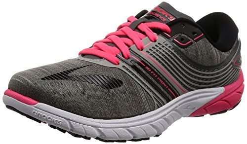 Brooks Women's PureCadence 6 Castle Rock/Black/Diva Pink 5 B US