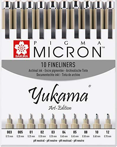 Sakura Pigma Yukama® Art Edition - Rotuladores de punta fin