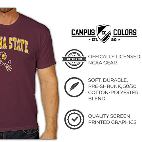NCAA Adult Arch /& Logo Soft Style Gameday T-Shirt